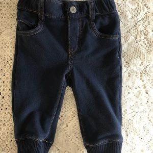 Baby Gap boys knit joggers jeans very soft 6-12 m